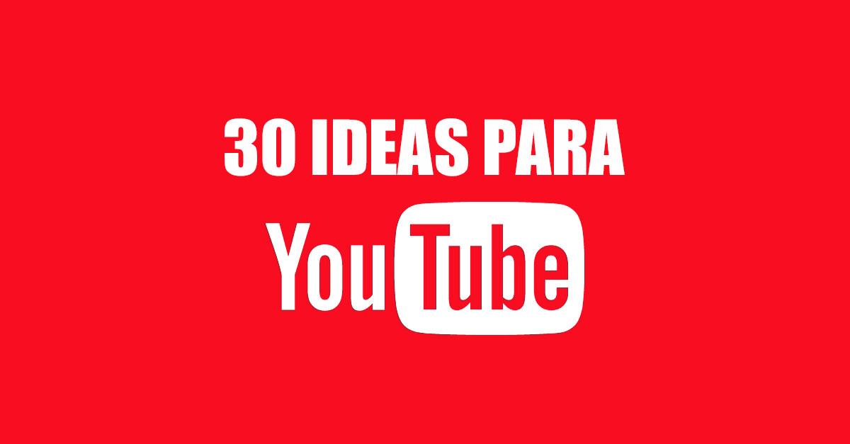 30 Ideas Para Vídeos De Youtube Vloggeros
